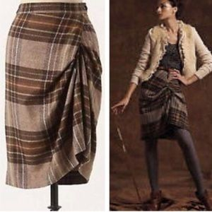 Anthropologie Cartonnier Wool Skirt